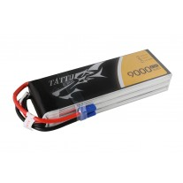 TATTU 9000mAh 22.2V 25C 6S1P Lipo Battery Pack with EC5
