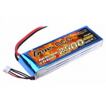 Gens ace 2500mAh 11.1V 25C 3S1P Lipo Battery Pack with T-plug