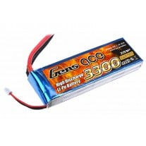 Gens ace 3300mAh 7.4V 25C 2S1P Lipo Battery Pack with T-plug