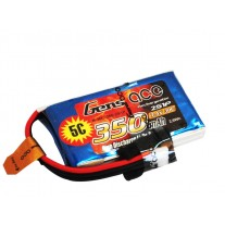 Gens ace 30C 7.4V 2S 350mAh Lipo Battery Pack