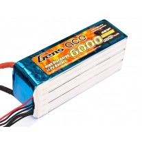 Gens ace 6S 6000mAh 22.2V 35C Lipo Battery with EC5 Plug