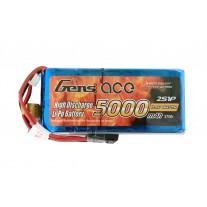 Gens ace 5000mAh 7.4V RX/TX 2S1P Lipo Battery Pack