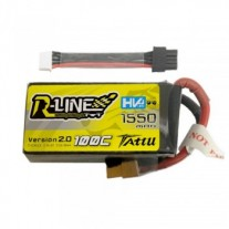 Tattu R-Line 1550mAh 100C 4S1P 15.2V HV Lipo Battery-Version 2.0 With Detachable Balance Cable