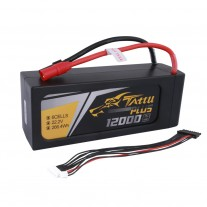 Tattu Plus 12000mAh 22.2V 15C 6S1P Lipo Battery Pack with AS150+XT150 plug