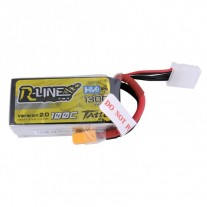 Tattu R-Line 1300mAh 100C 4S1P 15.2V High Voltage Lipo Battery Pack with XT60 Plug-Version 2.0