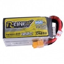 Tattu R-Line 1550mAh 100C 4S1P 15.2V High Voltage Lipo Battery Pack with XT60 Plug-Version 2.0