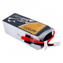 Tattu 16000mAh 22.2V 15/30C 6S1P Lipo Battery Pack