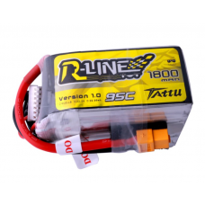 Tattu R-Line 1800mAh 6S 22.2V 95C Lipo Battery Pack with XT60 plug