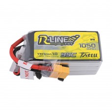 Tattu R-Line 1050mAh 95C 22.2V 6S1P Lipo Battery Pack with XT-60 Plug