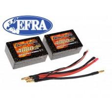 Gens ace 4800mAh 3.7V 25C 1S3P Saddle Lipo Battery 12#
