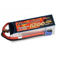 Gens ace 6200mAh 22.2V 25C 6S1P rc car battery pack