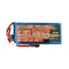USED-Gens ace 5000mAh 7.4V RX/TX  2S1P Lipo Battery Pack