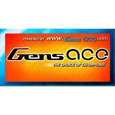 Gens ace banner 2.5m black/green