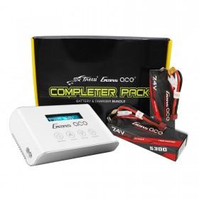 Gens ace Bashing 5300mAh 2S1P (2pcs) + Imars III Smart Balance RC Battery Charger Bundle