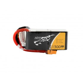 Tattu 14.8V 45C 1300mAh 4S1P Lipo Battery Pack with XT60