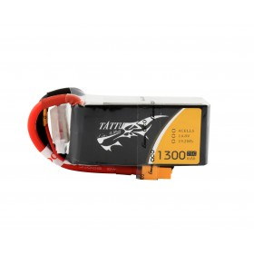 Tattu 1300mAh 14.8V 75C 4S1P Lipo Battery Pack with XT60