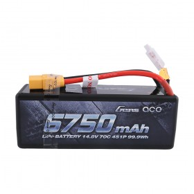 Gens ace 6750mAh 14.8V 70C 4S1P HardCase Lipo Battery 14# with XT90 Plug