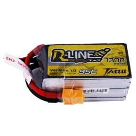 Tattu R-Line 1300mAh 95C 5S1P lipo battery pack with XT60 Plug