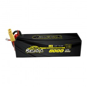 Gens ace 8000mAh 14.8V 100C 4S2P Lipo Battery Pack with EC5-Bashing Series