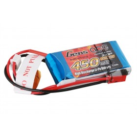 Gens ace 450mAh 7.4V 25C 2S1P Lipo Battery Pack