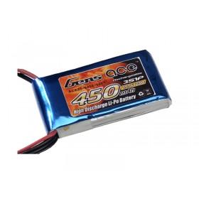 Gens ace 450mAh 11.1V 25C 3S1P Lipo Battery Pack
