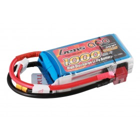 Gens ace 1000mAh 3S1P 11.1V 25C Lipo Battery Pack with T/XT60 plug