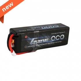 Gens ace 5000mAh 11.1V 50C 3S1P HardCase Lipo Battery 15# with Deans Plug