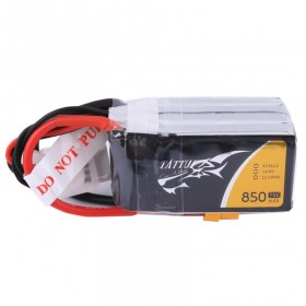 Tattu 850mAh 4S 14.8V 75C Lipo Battery Pack with XT30 plug