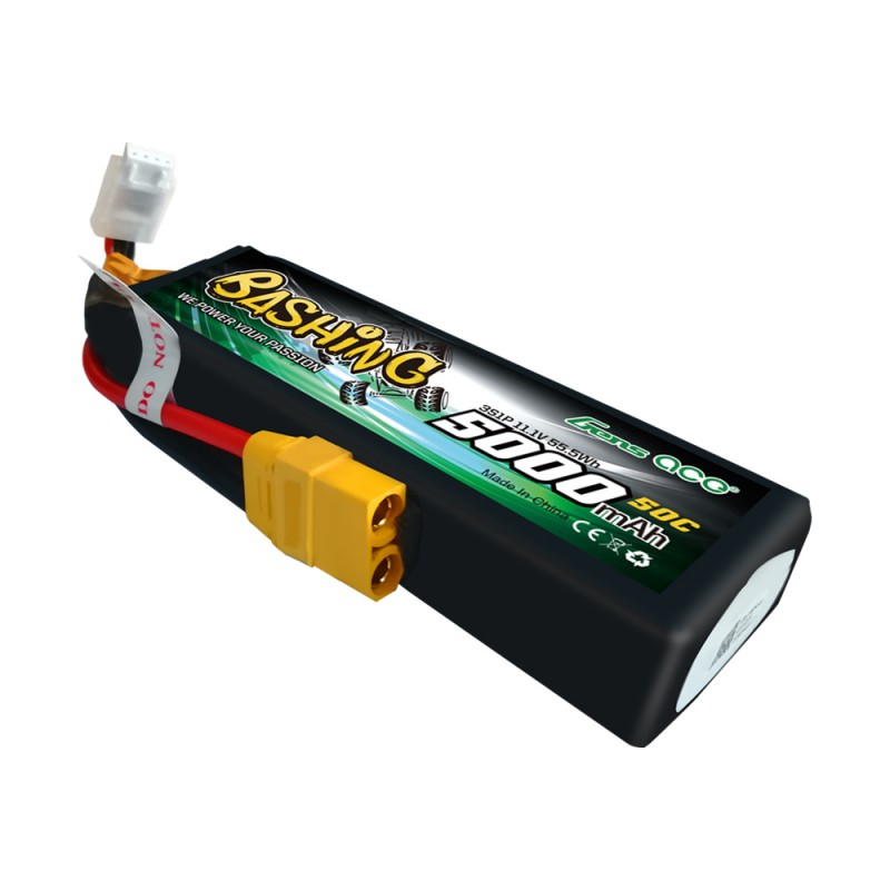 Gens ace 5000mAh 11.1V 3S1P 50C Lipo Battery Pack with XT90 Plug-Bashing Series