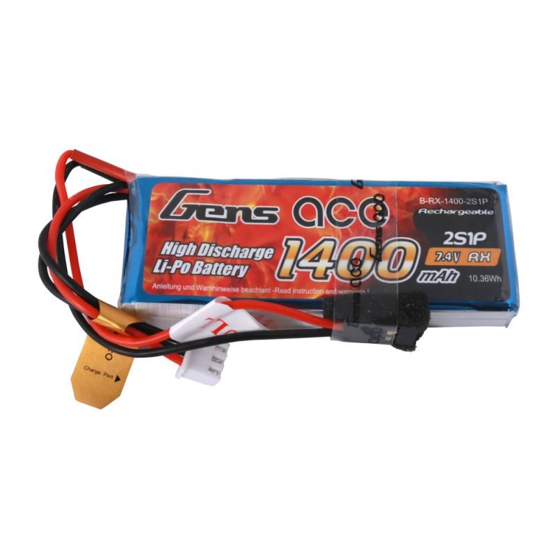 Gens ace 1400mAh 7.4V 2S1P Transmitter Lipo Battery Pack