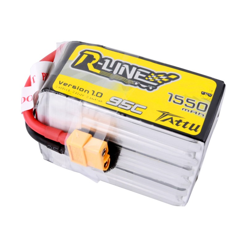 Tattu R-Line 1550mAh 95C 6S1P Lipo Battery Pack with XT60