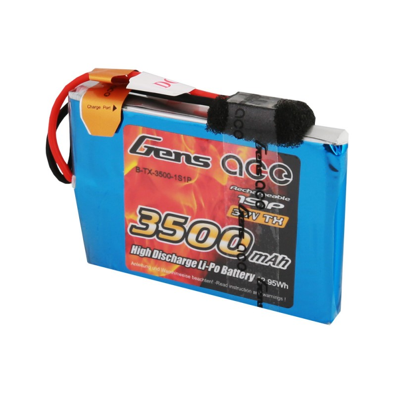Gens ace 3500mAh 3.7V TX 2S1P Lipo Battery pack with JR Plug