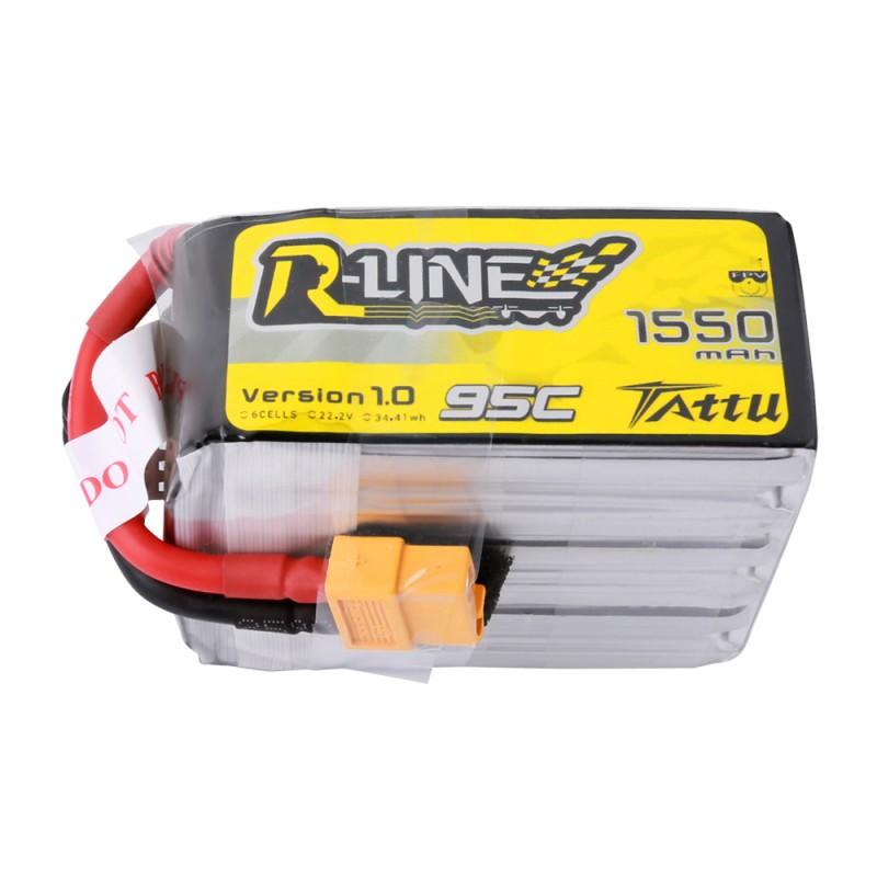 Tattu R-Line 1550mAh 95C 6S1P Lipo Battery Pack with XT60