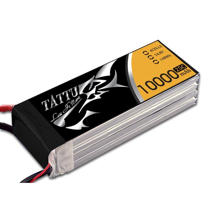 Tattu 10000 mAh 14.8V 25/50C 4S1P Lipo Battery