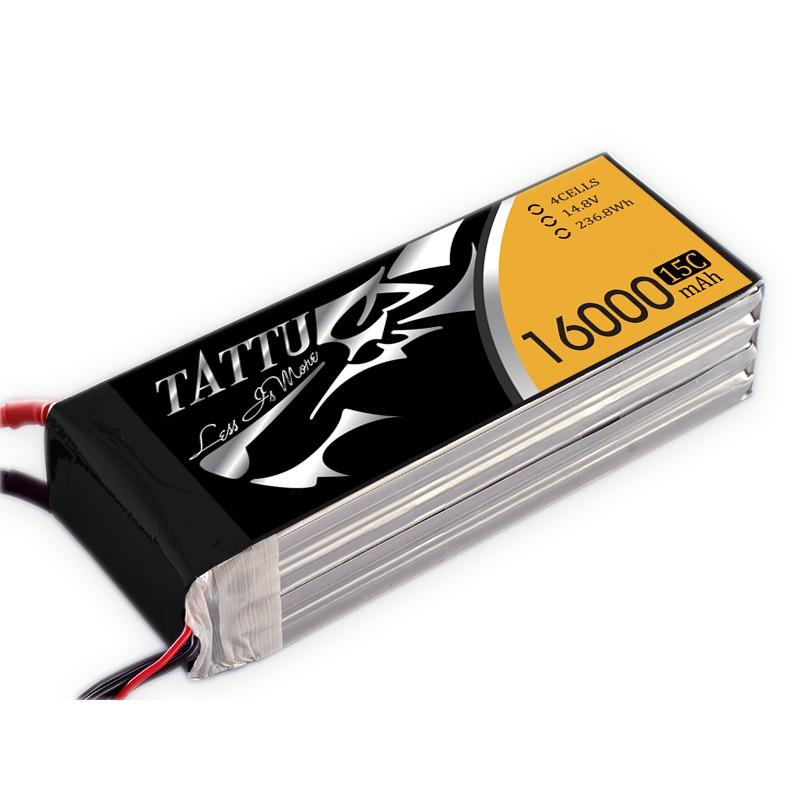 Tattu 16000 mAh 14.8V 15/30C 4S1P Lipo Battery