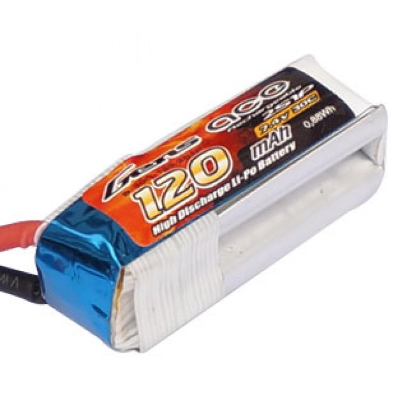Gens ace 120mAh 7.4V 30C 2S1P Lipo Battery Pack