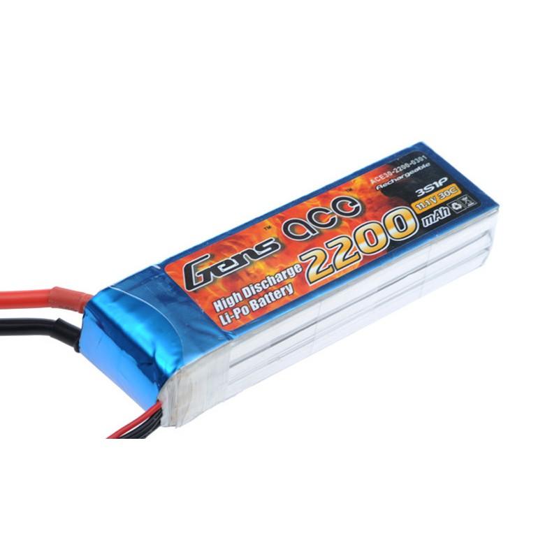Gens ace 2200mAh 11.1V 30C 3S1P Lipo Battery Pack