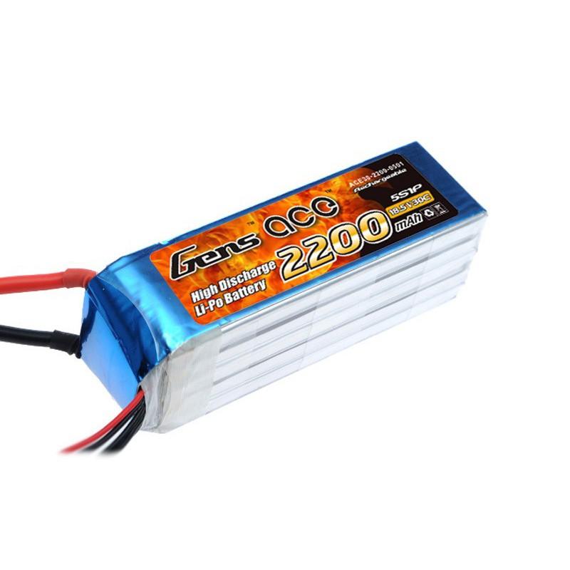 Gens ace 2200mAh 18.5V 30C 5S1P Lipo Battery Pack