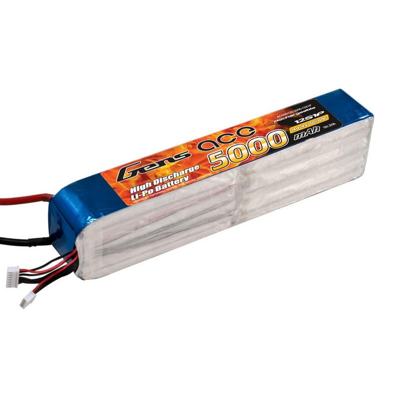Gens ace 5000mAh 60/120C 44.4V 12S1P Lipo Battery pack