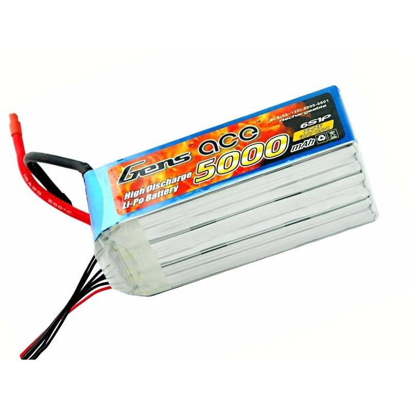 Gens ace 5000mAh 22.2V 60C 6S1P Lipo Battery Pack