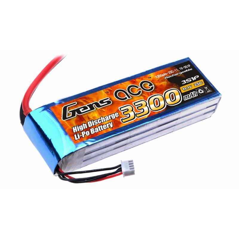 Gens ace 3300mAh 3S 25C Lipo battery