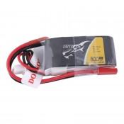 Tattu 800mAh 7.4V 45C 2S1P Lipo Battery Pack with JST Plug