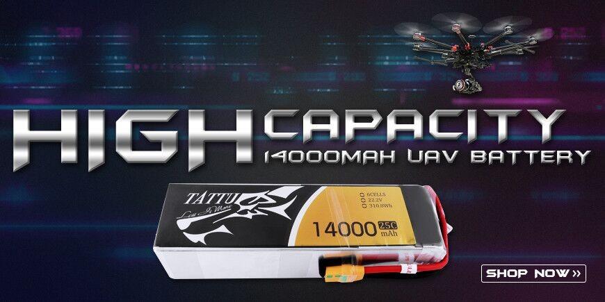 tattu 14000mah 6S 25C uav battery for DJI S800, S800 EVO, S1000, CineStar 6, XL Hexacopter