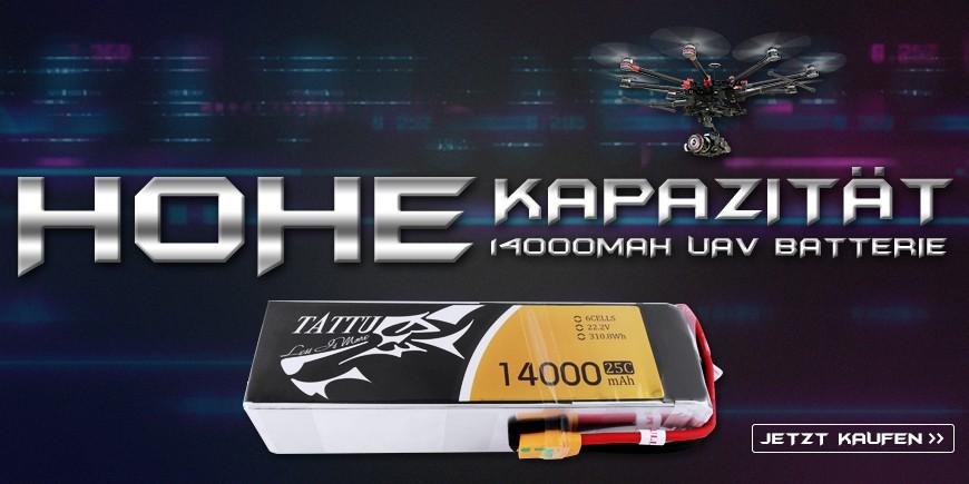tattu 14000mah 6S 25C battery for Multirotor/Aircraft.