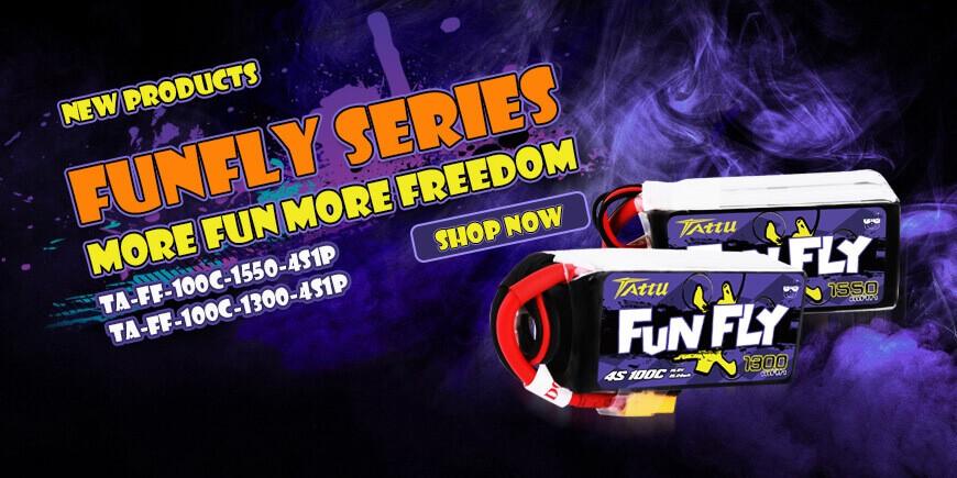 Tattu FunFly Series 4S 100c fpv battery