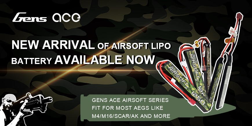 New Arrival Of Airsoft lipo battery