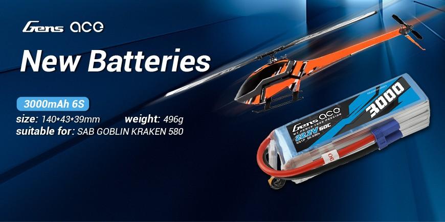 3000mAh 6s new battery