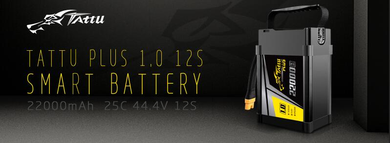 Tattu plus1.0 22000mah 25C 12S lipo battery