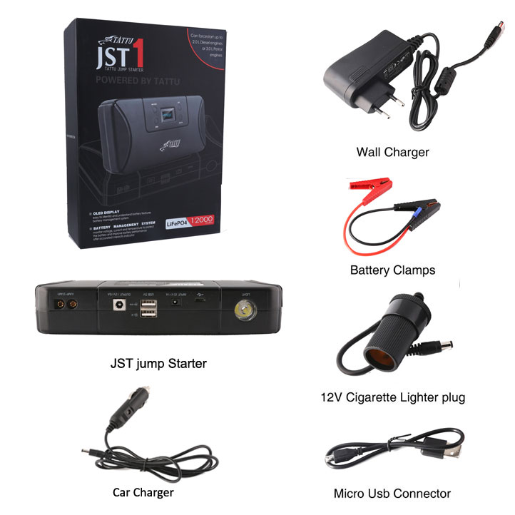 Tattu Portable Car Jump Starter 12000mah Gens Ace