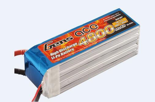 Gens ace 4800mAh 18 5V 5S1P 18/36C Lipo Battery Pack